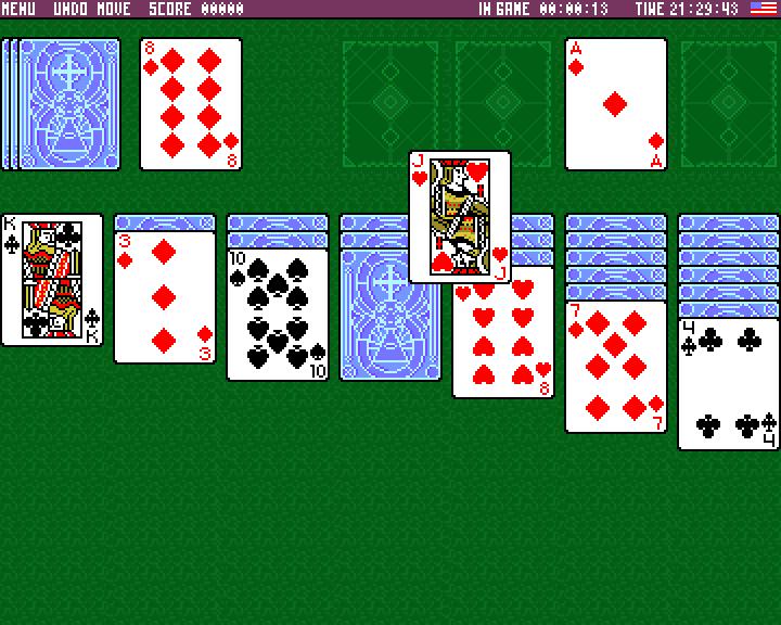 TSolitaire - ZX Spectrum game title screen