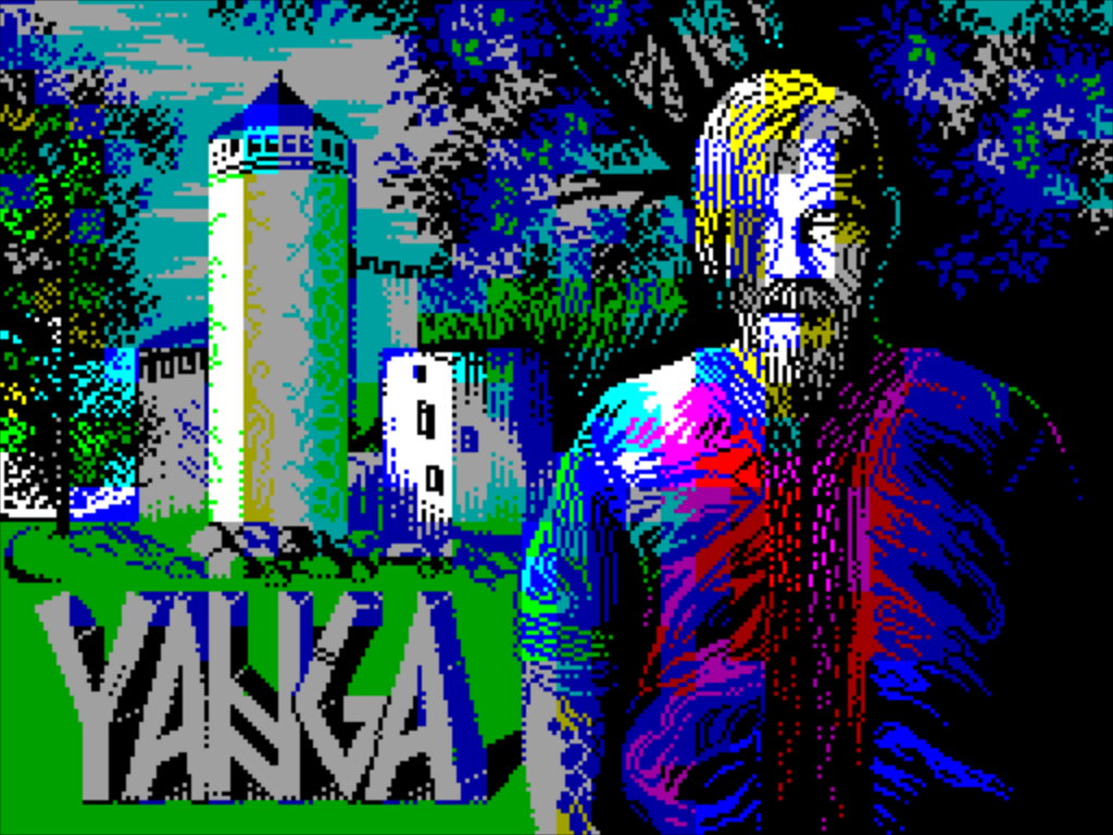 Yanga zx spectrum game title screen