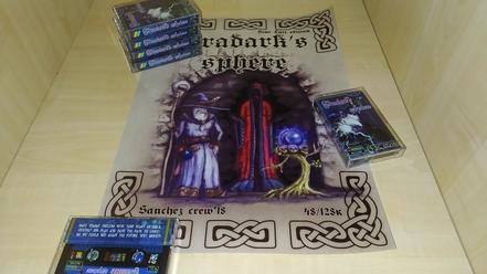 vradark's sphere poster and cassettes