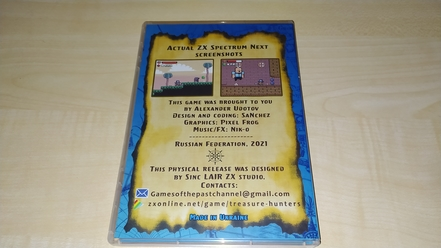 Treasure Hunters physical edition back side